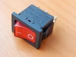 Переключатель KCD1-B2-101N11RBA OFF-ON красный 250V 10A (с подсветкой)